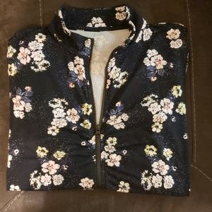 In Motion floral zip up jacket